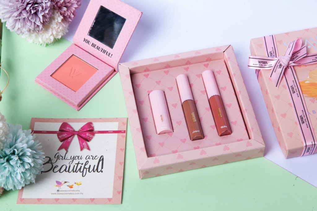 Wawa Cosmetics product baby girl studio photoshoot