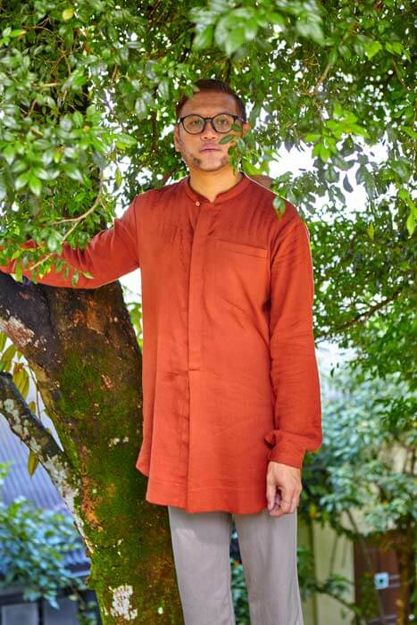 men wearing red kurta